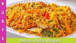 Keema Pulao Biryani Super Easy & Fast Recipe in Urdu Hindi - RKK