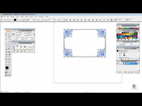 Creating custom borders using Adobe Illustrator