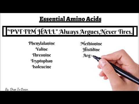 Trick To Memorise Essential  Amino Acids