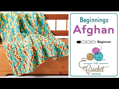 How to Crochet A Blanket for Beginners: Bright Beginnings