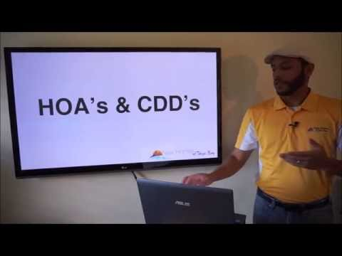 How to find out HOA's and CDD's