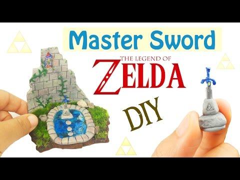DIY MINI MASTER SWORD LEGEND OF ZELDA Breath of the Wild Resin & Polymer Clay Tutorial how to