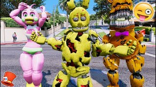 BRAND NEW SPRINGTRAP ANIMATRONIC IS HERE! (GTA 5 Mods For Kids FNAF RedHatter)