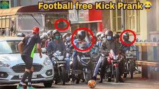 FOOTBALL FREE KICK PRANK ON GIRL'S 2020 | EPIC REACTIONS| BEST FUNNY PRANKS OF INDIA 2020