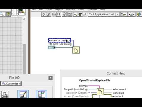 VI High 44 - Learn How to Write to a Text File with LabVIEW