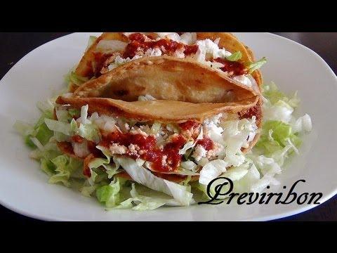 Tacos Dorados de Papa y Atun /Potato and Tuna Tacos * video 140 *