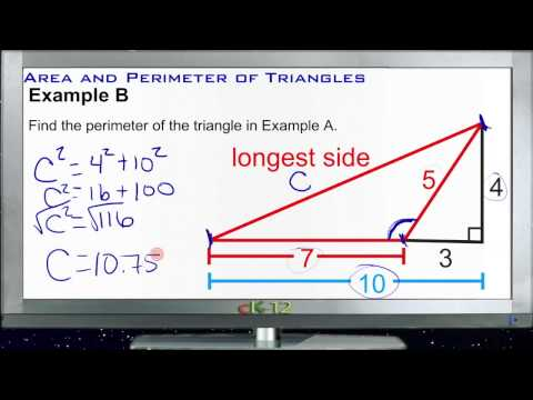 Area and Perimeter of Triangles: Examples (Basic Geometry Concepts)