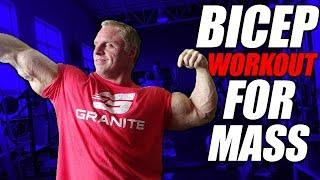 4 Exercise Bicep Workout for Mass