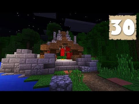 BANNER DESIGNING & THE MEAT GAZEBO! - Survival Let's Play Ep. 30 - Minecraft 1.2.9
