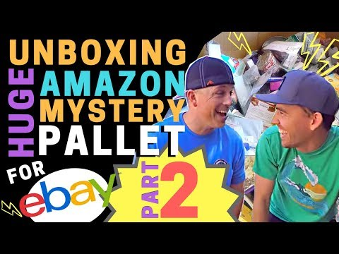 PART 2! Unboxing Huge Amazon Mystery Pallet for Resale on eBay with Matt & Travis