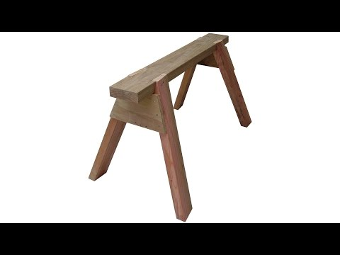 How to make a sawhorse