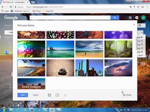 How to change background Image in gmail