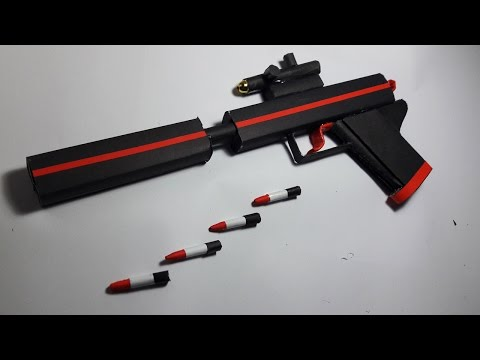 |DIY| How To Make a Paper ''Silent Scream''Gun That Shoots Paper Bullets-Toy Weapons-By Dr.Origami