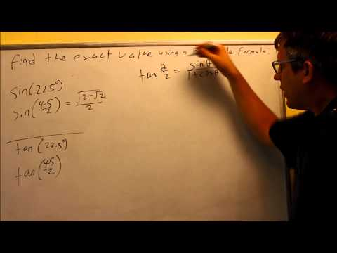 Find the Exact Value Using a Half-Angle Formula: Section 7.6 Ex 4
