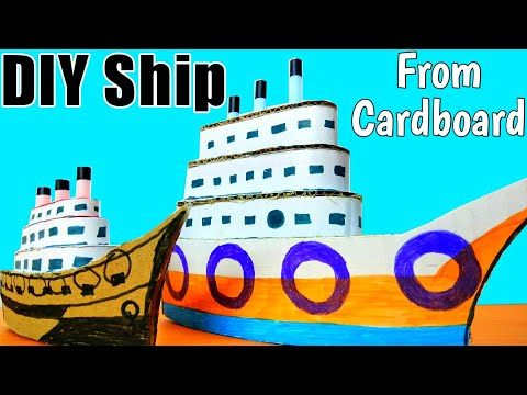 Learn How to make cruiser ocean ship out of Cardboard at home: DIY homemade ship video for your Kid.