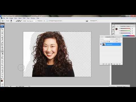 **Hair cuting in Photoshop CS3 (HIndi)