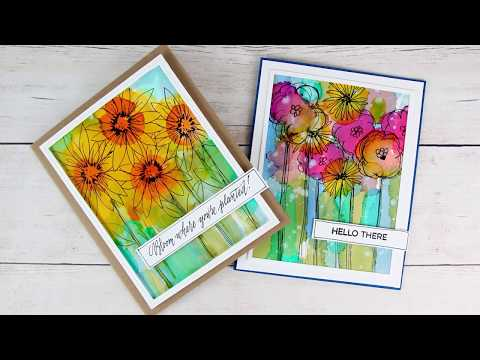 How To Create Alcohol Ink Backgrounds and Flowers