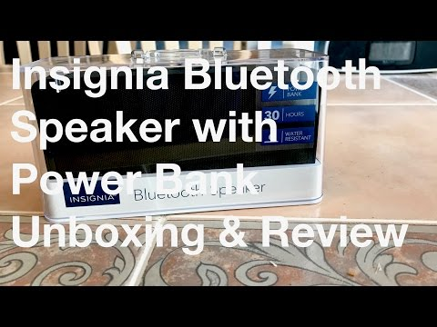 Insignia Bluetooth Speaker with Powerbank - Unboxing and Review