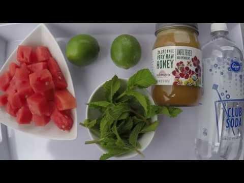 Delicious and Healthy Soda Alternative-Watermelon Fizz Drink Recipe!