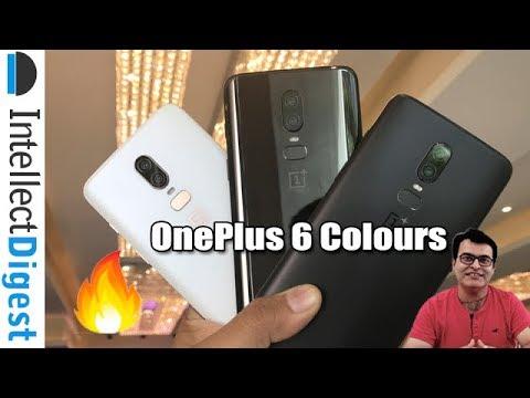 OnePlus 6 Colour Comparison- Mirror Black VS Midnight Black VS Silk White