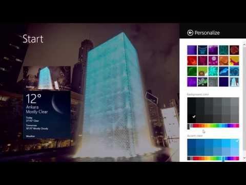 How to change windows 8.1 Theme colour
