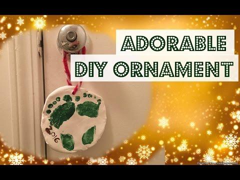 DIY baby feet ornament