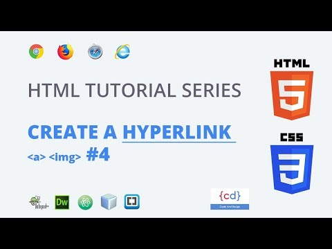Page link in html Hyperlink || How to Insert an Image in a Webpage (Hindi) #4