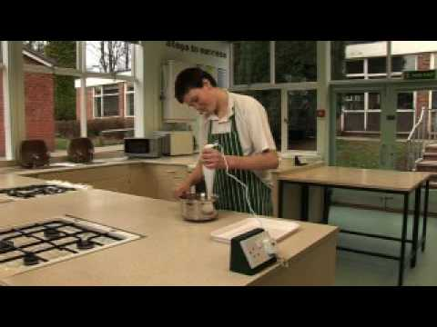 Using a hand held blender