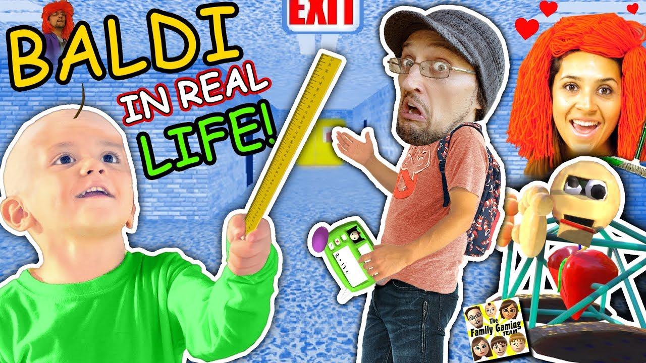 BALDI'S BASICS In Real Life!! FGTEEV goes to School of Education & Learning (Skit)