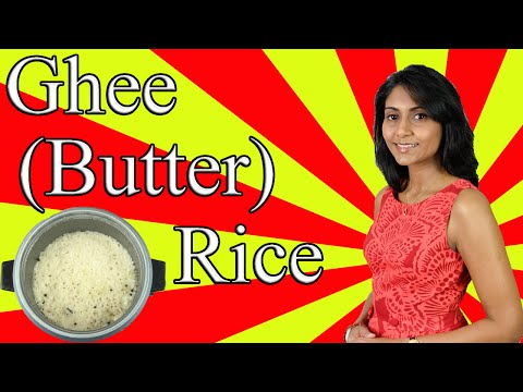 How to make Ghee (Butter) Rice with an Electric Cooker