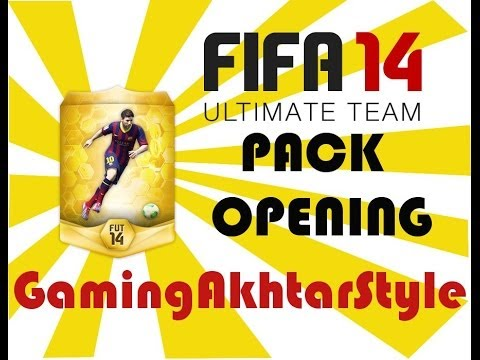 FIFA 14 Ultimate Team Mini GOLD Pack Opening With GamingAkhtarStyle