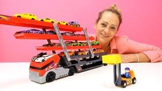 Peppa Wutz spielt mit Autos. Videos für Kinder.