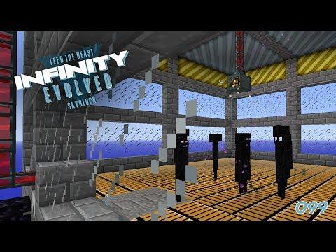 Enderman Farm - läuft 🎓 FTB Infinity Evolved Skyblock #099