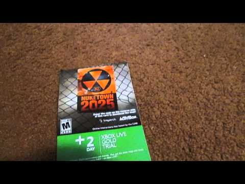 Free xbox live 2 day gold trial giveaway