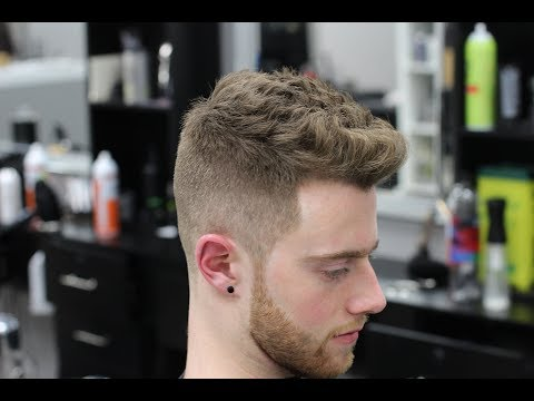 BARBER TUTORIAL: HOW TO DO A TEXTURED HAIRCUT|| EASY FADE FOR BEGINNERS
