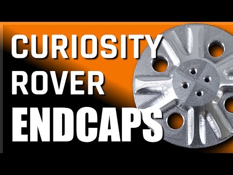 HAAS Job Shop: Mars Curiosity Rover Replica Wheel Caps!