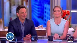 seth meyers plays politick tock, talks family, kellyanne conway | the view