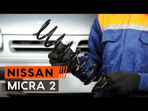 How to replace front springs onNISSAN MICRA 2[TUTORIAL AUTODOC]