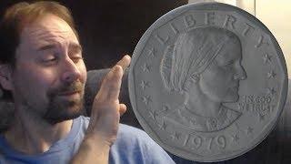 US Susan B Anthony Dollar Coin D 1979 Rotating