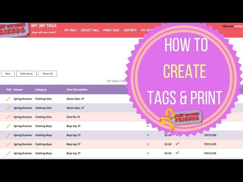 How to Use Our Online Tagging System (Tagging & Printing basics)