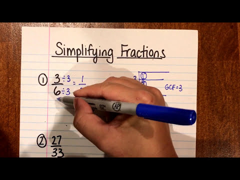 Simplifying Fractions (Using Greatest Common Factor)