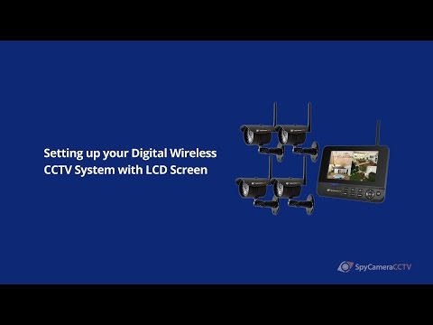How to Set up Digital Wireless CCTV System with LCD Monitor