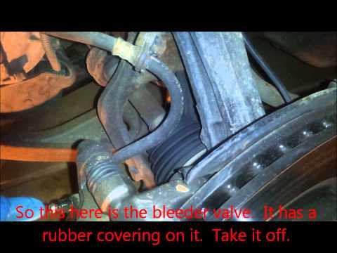 2007 Honda Accord V6 Brake Fluid Flush through Brake Bleeding