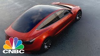 Elon Musk Shows Off The First Tesla Model 3 From Assembly Line | CNBC