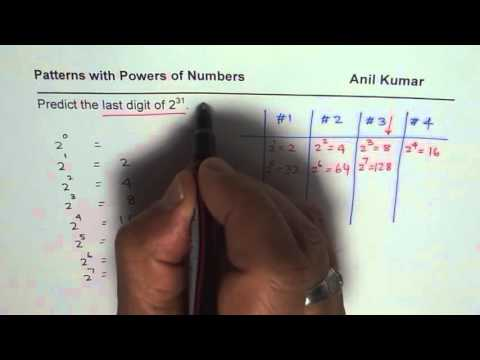 Determine last digit of 2 to the power of 23