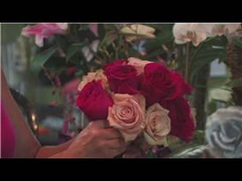 Wedding Floral Arrangements : How to Make a Rose Wedding Bouquet