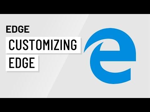 Microsoft Edge: Customizing Edge