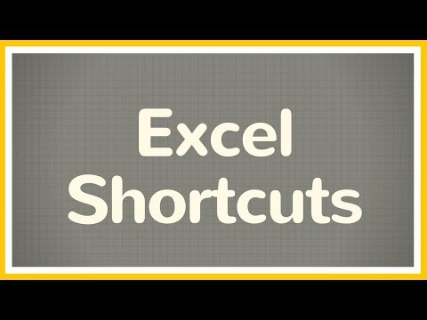 Time Saving Excel Shortcuts - Tutorial