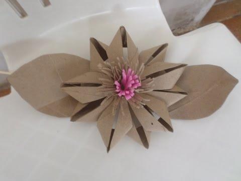 Toilet Paper Roll Flower - DIY