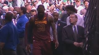 LeBron James Leaves The Game After Getting Hit in The Face By Jayson Tatum!